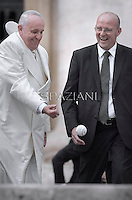 Pope Francis during general audience in St. Peter square at the Vatican,. September 24,2014