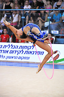 Daria Dmitrieva of Russia performs with rope during event finals at 2010 Holon Grand Prix at Holon, Israel on September 3, 2010.  (Photo by Tom Theobald).