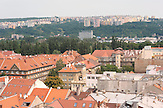 Dächer von Kosice, Altstadt, Plattenbauten am Rande der Stadt / Ko?ice Roofs, old town,  building made from prefabricated slabs