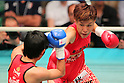Etsuko Tada (JPN), SEPTEMBER 22, 2011 - Boxing : Etsuko Tada of Japan in action against Nongmuay Kokietgym of Thailand during the WBA Female Minimum weight title bout at Korakuen, Tokyo, Japan. Etsuko Tada won the fight on points after ten rounds. (Photo by Yusuke Nakanishi/AFLO) [1090]