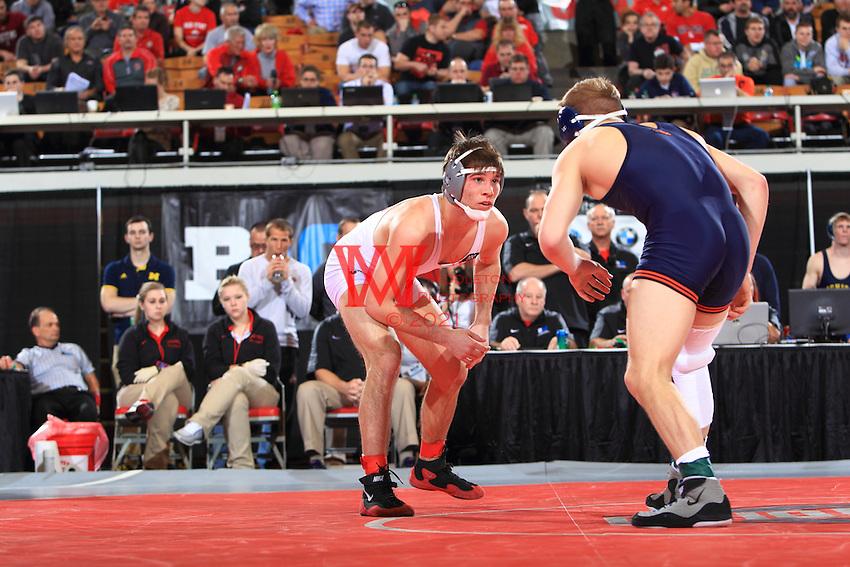 The Ohio State University wrestling team win the 2015 B1G Wrestling Tournament at St. John's Arena, The Ohio State University, Columbus, OH. March 8, 2015