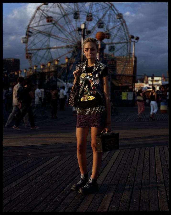 Thalita McDonnell, 16. Harlem, Manhattan. Coney Island teen-agers. Summer 2008.