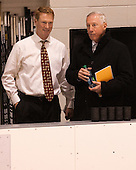 Greg Brown (BC - Associate Head Coach), Jerry York (BC - Head Coach) - The Providence College Friars tied the visiting Boston College Eagles 3-3 on Friday, December 7, 2012, at Schneider Arena in Providence, Rhode Island.