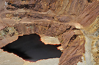 Polluted water in the Lavender open-pit copper mine, Bisbee, Arizona, USA
