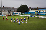 Port Talbot Town 3 Caerau Ely 0, 06/02/2016. Genquip Stadium, Welsh Cup fourth round. Home players celebrating as Port Talbot Town (in blue) score their third goals against Caerau Ely in a Welsh Cup fourth round tie at the Genquip Stadium, formerly known as Victoria Road. Formed by exiled Scots in 1901 as Port Talbot Athletic, they competed in local and regional football before being promoted to the League of Wales  in 2000 and changing their name to the current version a year later. Town won this tie 3-0 against their opponents from the Welsh League, one level below the welsh Premier League where Port Talbot competed, watched by a crowd of 113. Photo by Colin McPherson.
