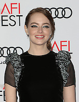 Hollywood, CA - NOVEMBER 15: Emma Stone, At Audi Celebrates La La Land At AFI Fest 2016 Presented By Audi At The TCL Chinese Theatre, California on November 15, 2016. Credit: Faye Sadou/MediaPunch