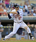 29 September 2012: Minnesota Twins third baseman Trevor Plouffe in action against the Detroit Tigers at Target Field in Minneapolis, MN. The Tigers defeated the Twins 6-4 in the second game of their 3-game series. Mandatory Credit: Ed Wolfstein Photo