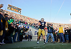 Nov. 17, 2012; Manti Te'o is introduced for Senior Day.
