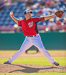 5 March 2013: Washington Nationals pitcher Jeremy Accardo on the mound during a Spring Training game against the Houston Astros at Space Coast Stadium in Viera, Florida. The Nationals defeated the Astros 7-1 in Grapefruit League play. Mandatory Credit: Ed Wolfstein Photo *** RAW (NEF) Image File Available ***