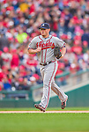 4 April 2014: Atlanta Braves pitcher Craig Kimbrel trots out to the mound to close out the Washington Nationals Home Opening Game at Nationals Park in Washington, DC. The Braves edged out the Nationals 2-1 in their first meeting of the 2014 MLB season. Mandatory Credit: Ed Wolfstein Photo *** RAW (NEF) Image File Available ***
