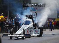Jun 6, 2016; Epping , NH, USA; NHRA top fuel driver Antron Brown during the New England Nationals at New England Dragway. Mandatory Credit: Mark J. Rebilas-USA TODAY Sports