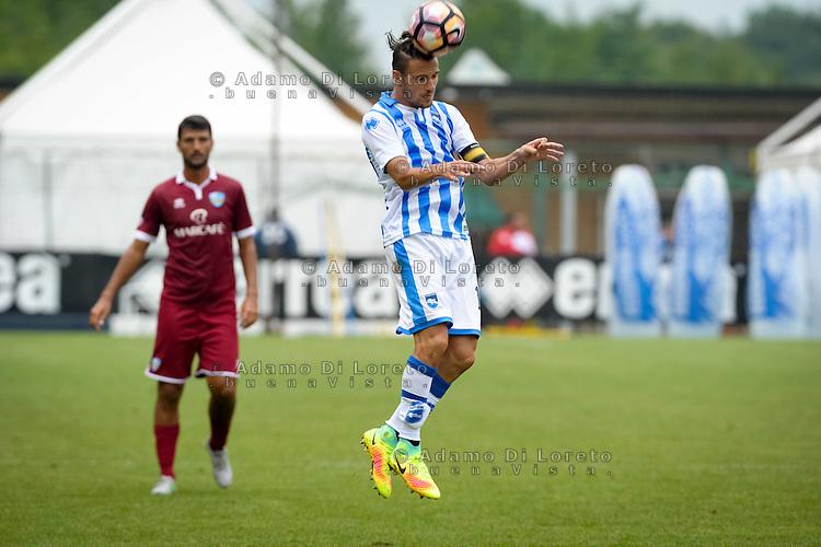 Verre Valerio (Pescara) during the withdrawal preseason Serie A; match friendly between Pescara vs San Nicolò, on July 28, 2016. Photo: Adamo Di Loreto/BuenaVista*photo