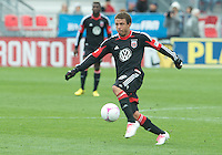 06 October 2012: D.C. United midfielder Nick DeLeon #18 in action during an MLS game between D.C. United and Toronto FC at BMO Field in Toronto, Ontario..D.C. United won 1-0..