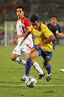 Brazil's Bertucci takes the ball past Costa Rica's defenses during the FIFA Under 20 World Cup Semi-final match at the Cairo International Stadium in Cairo, Egypt, on October 13, 2009. Brazil won the match  1-0.