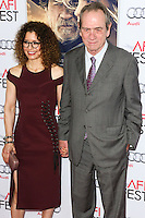 HOLLYWOOD, LOS ANGELES, CA, USA - NOVEMBER 11: Dawn Laurel-Jones, Tommy Lee Jones arrive at the AFI FEST 2014 - 'The Homesman' Gala Screening held at the Dolby Theatre on November 11, 2014 in Hollywood, Los Angeles, California, United States. (Photo by Xavier Collin/Celebrity Monitor)