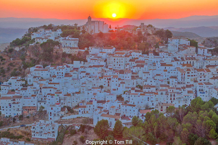 Casares, Spain Malaga, White Village near Gibraltar, Founded in 12th Century