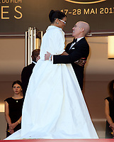 Rihanna &amp; Jeffrey Katzenberg at the premiere for &quot;Okja&quot; at the 70th Festival de Cannes, Cannes, France. 19 May  2017<br /> Picture: Paul Smith/Featureflash/SilverHub 0208 004 5359 sales@silverhubmedia.com