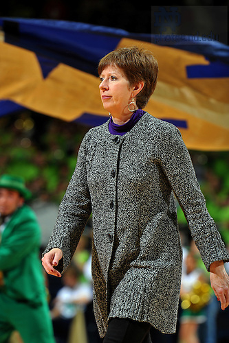 Dec. 11, 2010; Women's Basketball head coach Muffet McGraw walks off the court at the Purcell Pavilion after the Irish defeated the Creighton Bluejays 91-54. ..Photo by Matt Cashore/University of Notre Dame