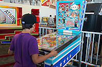 Coin-operated pinball in Musee Mecanique in Fisherman's Wharf, San Francisco