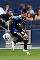 Jason Hernandez San Jose Earthquakes defender in action... Sporting KC defeated San Jose Earthquakes 1-0 at LIVESTRONG Sporting Park, Kansas City, Kansas.