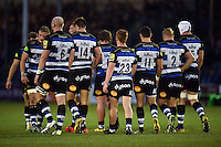 A general view of Bath Rugby players. West Country Challenge Cup match, between Bath Rugby and Exeter Chiefs on October 10, 2015 at the Recreation Ground in Bath, England. Photo by: Patrick Khachfe / Onside Images