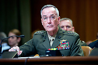 The Chairman of the Joint Chiefs of Staff, United States Marine Corps General Joseph F. Dunford, Jr., testifies at a US Senate Committee on Appropriations Subcommittee on Defense hearing entitled &quot;A Review of the Budget &amp; Readiness of the Department of Defense&quot; on Capitol Hill in Washington, DC on Wednesday, March 22, 2017.<br /> Credit: Ron Sachs / CNP /MediaPunch