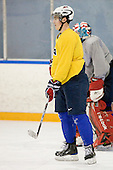 Chris Kreider (USA - 20) - Team USA practiced at the Agriplace rink on Monday, December 28, 2009, in Saskatoon, Saskatchewan, during the 2010 World Juniors tournament.