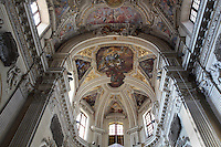 Ceiling of the apse of Santa Maria della Pieta, late 16th century Baroque church built by Giacomo Amato, Kalsa district, Palermo, Sicily, Italy. Picture by Manuel Cohen