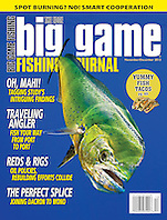 Big Game Fishing Journal Magazine, November/December 2013, magazine cover use, editorial, USA, Image ID: Mahi-Mahi-Dolphinfish-Dorado-0028-V