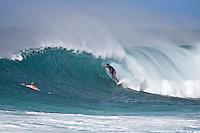 BEN DUNN (AUS) surfing at Off The Wall-Backdoor, North Shore of Oahu, Hawaii. Photo: joliphotos.com