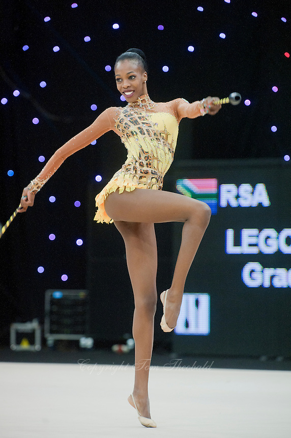 """February 13, 2016 - Tartu, Estonia - GRACE LEGOTE of South Africa performs in the All-Around at """"Miss Valentine"""" 2016 international tournament."""