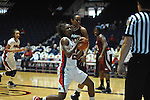 "Ole Miss' Courtney Marbra (25) vs. UMass' Jasmine Watson (32) at the C.M. ""Tad"" Smith Coliseum in Oxford, Miss. on Saturday, December 8, 2012."