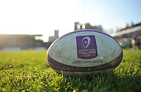 A general view of a European Rugby Challenge Cup branded rugby ball. European Rugby Challenge Cup match, between Bath Rugby and Pau (Section Paloise) on January 21, 2017 at the Recreation Ground in Bath, England. Photo by: Patrick Khachfe / Onside Images
