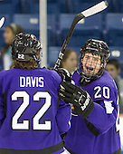 Chase Grant (Mankato - 20) was given the Mavericks' third goal. - The visiting Minnesota State University-Mankato Mavericks defeated the University of Massachusetts-Lowell River Hawks 3-2 on Saturday, November 27, 2010, at Tsongas Arena in Lowell, Massachusetts.