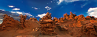988000009 panoramic view of summer thunderstorm clouds form up over the hoodoos in fantasy canyon blm lands utah united states