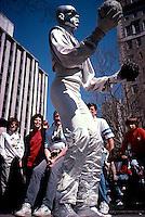 Silver juggler, Greenwich Village