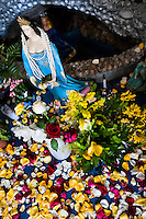 An Afro-Brazilian religious figurine, representing a god (orixa), is seen in the temple (terreiro) in Salvador, Bahia, Brazil, 7 February 2012.