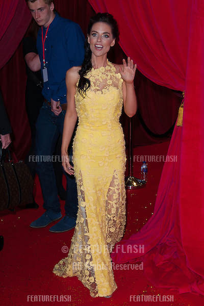 Stephanie Waring arriving for the 2014 British Soap Awards, at the Hackney Empire, London. 24/05/2014 Picture by: Dave Norton / Featureflash
