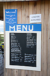 Seafood Cabin Menu in Skipness, Kintyre, Scotland