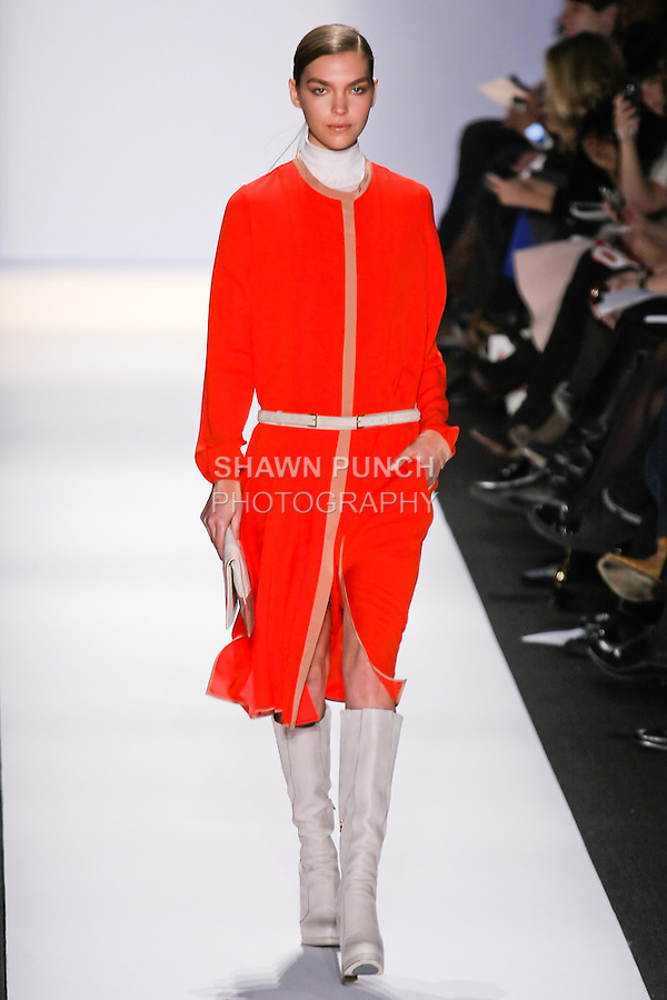 Monika Sawicka Muse walks the runway in an out by Max Azria, for the BCBGMAXAZRIA Fall 2011 fashion show, during Mercedes Benz Fashion Week.