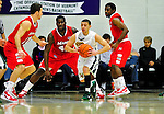 12 December 2010: University of Vermont Catamount guard Joey Accaoui, a Senior from Lincoln, RI, in action against the Marist College Red Foxes at Patrick Gymnasium in Burlington, Vermont. The Catamounts (7-2) defeated the Red Foxes  75-67 notching their 7th win of the season, and their best start since the '63-'64 season. Mandatory Credit: Ed Wolfstein Photo