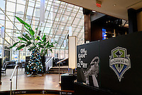Toronto, ON, Canada - Friday Dec. 09, 2016: Atmosphere  prior to the State of the League Address at the InterContinental Hotel.