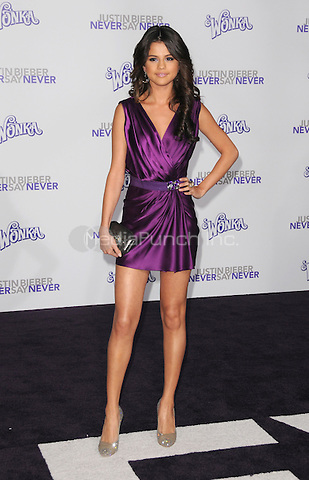 """Selena Gomez at the Los Angeles premiere of """"Justin Bieber: Never Say Never""""  at Nokia Theater at L.A. Live in Los Angeles, CA, USA.February 8, 2011 © mpi11 / MediaPunch Inc."""