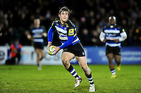 Max Clark of Bath United looks to pass the ball. Aviva A-League match, between Bath United and Wasps A on December 28, 2016 at the Recreation Ground in Bath, England. Photo by: Patrick Khachfe / Onside Images