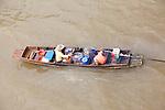 Chao Phraya River, Bangkok, Thailand> People selling satay from a boat in the Chao Phraya River.