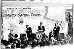 President John F. Kennedy, Flaming Gorge power station inauguration ceremony. Salt Lake City, Utah, September 27, 1963