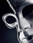 Beautiful silver Venetian mask