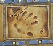 Hand print of the film star, Michael Douglas, outside the Palais des Festivals et des Congres, Cannes, France.