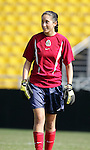 Sophia Perez on Saturday, October 22nd, 2005 at Blackbaud Stadium in Charleston, South Carolina. The Mexico Women's National Team went through a light practice the day before a game against United States.