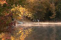 Fall color at Ackerman Lake in Alger County Michigan.